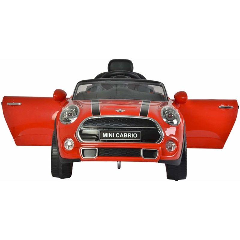 Auto Elettrica Per Bambini Mini Cabrio S 12v Cooper New Rosso Luci E