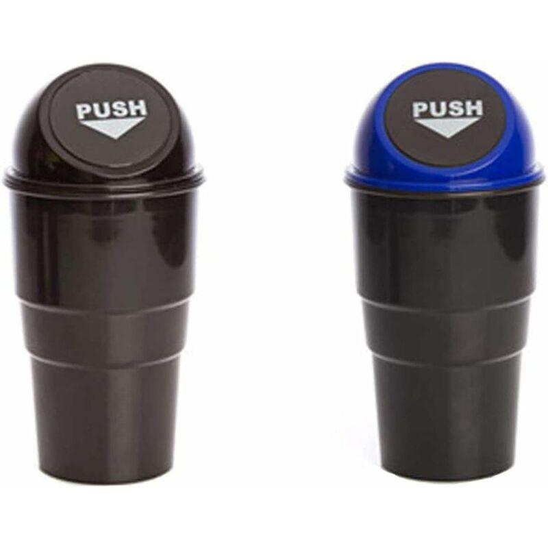 Image of Auto spazzatura auto (2 pz), piccola cestino universale per auto, mini plastica spazzatura in plastica cestino stoccaggio stoccaggio cestino di