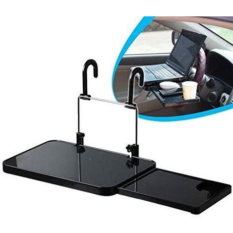 Auto Tablet Halter Faltbarer Laptop Tisch Lenkradablage Reiseschreibtisch und Auto Notebook Cup zum Essen Lenkrad mit Schubladen