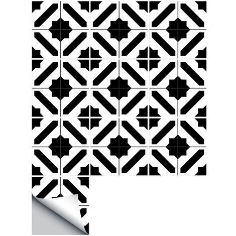 Autoadhesiva adhesivo de azulejo, Etiqueta De decoracion de la pared de arte, De 10 piezas