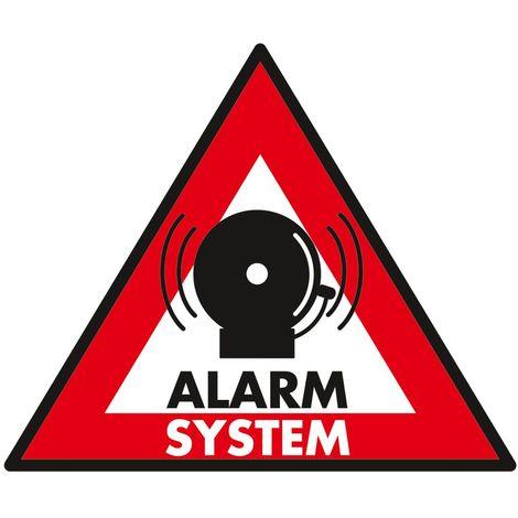 Carteles de videovigilancia o alarmas falsas