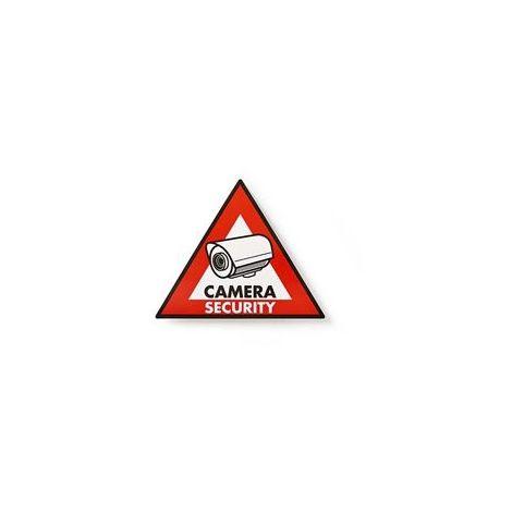 AUTOCOLLANT D'AVERTISSEMENT | SYMBOLE DE VIDÉOSURVEILLANCE | JEU DE 5 PIÈCES NEDIS