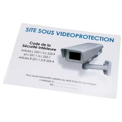 Autocollant norme video surveillance