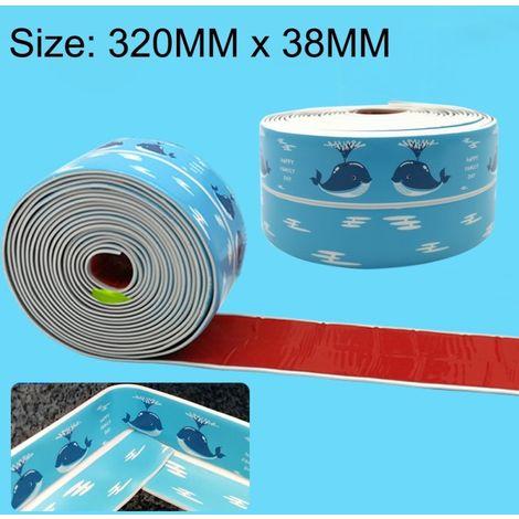 Autocollant pour toilettes, ruban adhésif résistant à la moisissure, cuisine et salle de bains en PVC, taille: 38 mm x 3,35 m (b