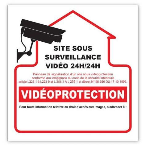 Autocollant Videoprotection 10x10cm G273945 Pour ALARME