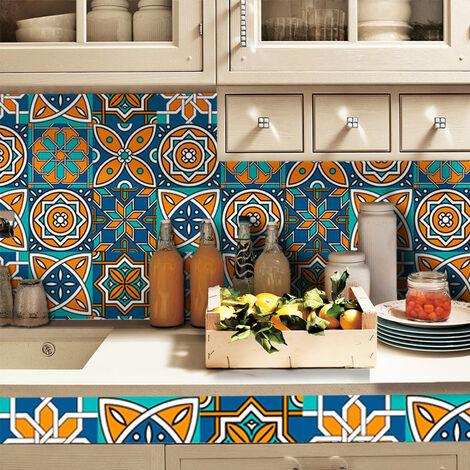"""main image of """"Autocollants de carreaux traditionnels Autocollants muraux en trois dimensions 3D pour salle de bain de cuisine 5"""""""