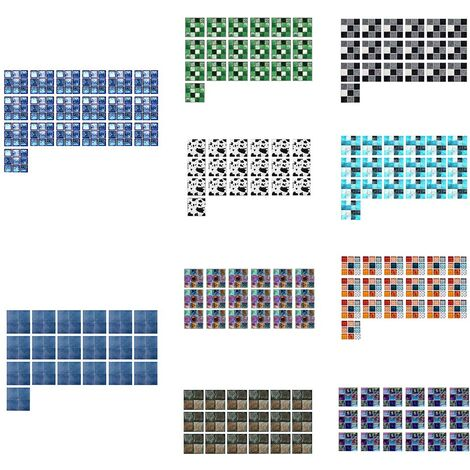 Autocollants muraux de carreaux de mosaique de paillettes d'imitation de serie de films YCZ, YCZ226