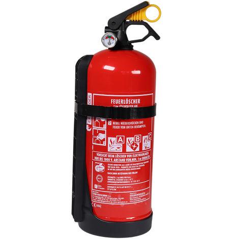 Autofeuerlöscher Pulver GP-2x ABC mit Halterung 2 kg mit Manometer auch für Boot Versandkostenfrei