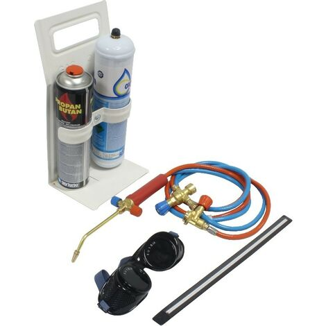 Autogena Portatil Para Soldadura con regulador de gas y oxigeno