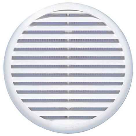 AUTOGYRE - Grille ventilation ronde autoajustable clip + moustiquaire D : 125/160 mm - blanc