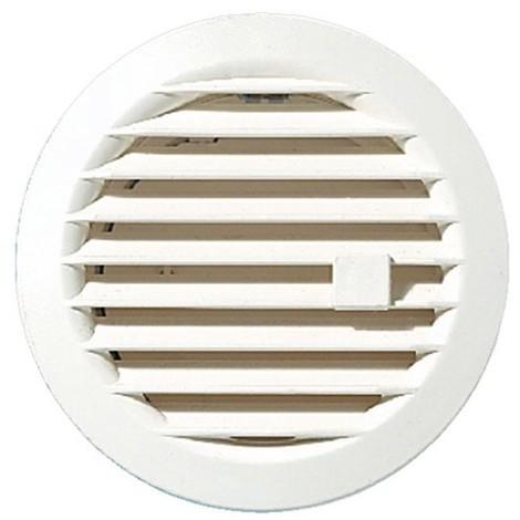 AUTOGYRE - Grille ventilation ronde réglable clip D :97 mm - blanc
