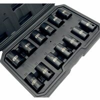 Autojack 13pc 1/2 inch square Drive Impact Metric Socket Set 10-24mm In Carry Case