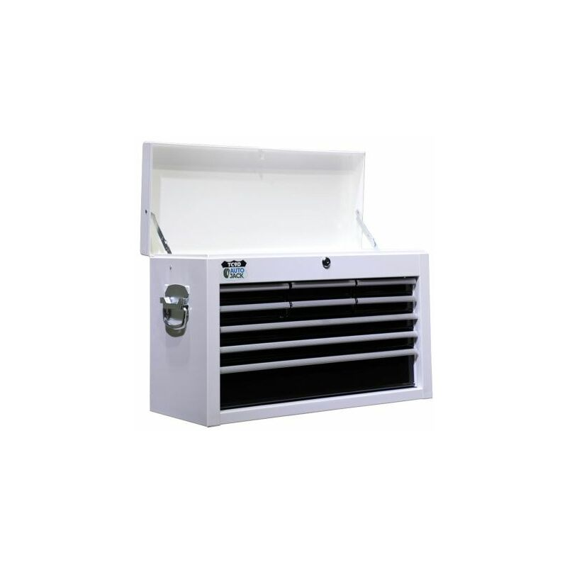 Image of Autojack 9 Drawer Metal Tool Cabinet Top Box Storage Chest