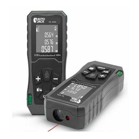 Autojack Handheld Digital Laser Point Distance Meter Tape Range Finder Measure 40m 131ft