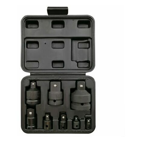 Autojack Heavy Duty 8pc Impact Wrench Socket Adaptor Converter Reducer Set Case
