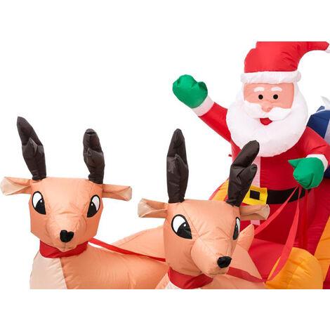 Automate de Noël Gonflable Père Noël et Rennes - Fééric Christmas