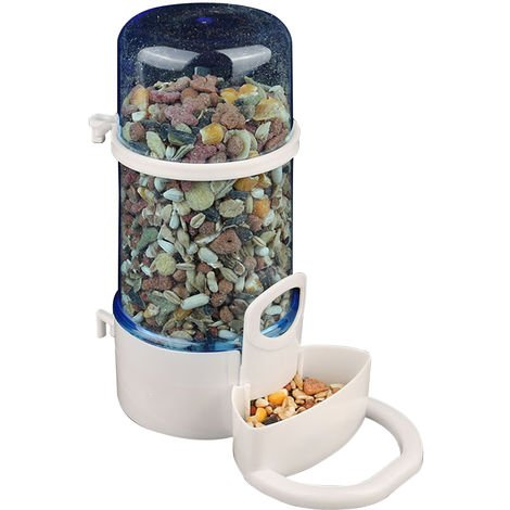 Automatic Bird Dry Food Feeder Bowl Dispenser for Parrot Bird Hamster Hedgehog Squirrel Dove Cage