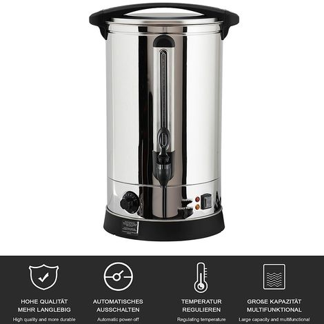 Automatic boiling vessel 22 L Mulled wine boiler 2500W Mulled wine boiler stainless steel thermostat
