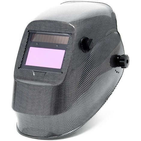 Automatic Darkening Welding Helmet in Carbon with Shade Filters and big Field of View