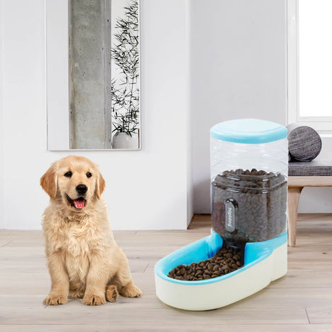 Automatic Pets Gravity Food Dispenser Set Small Big Dogs and Cats Automatic Food Feeder 3.8L Big Capacity