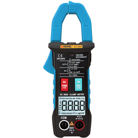 Automatic range digital current multimeter without battery blue