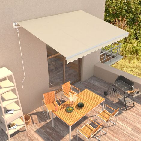 Automatic Retractable Awning 400x300 cm Cream