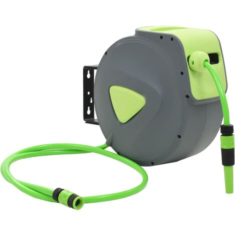 Automatic Retractable Water Hose Reel Wall Mounted 20+2 m