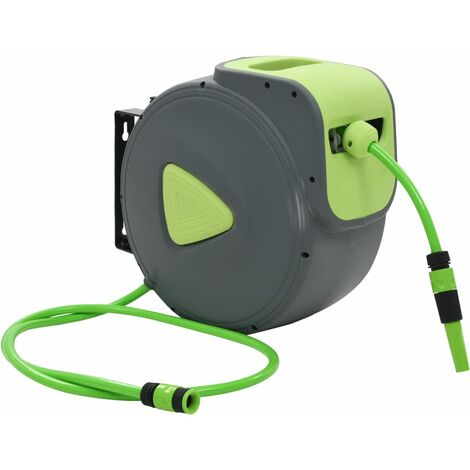 Automatic Retractable Water Hose Reel Wall Mounted 30+2 m