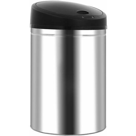 Automatic Sensor Dustbin Garbage Bin 32 L Stainless Steel