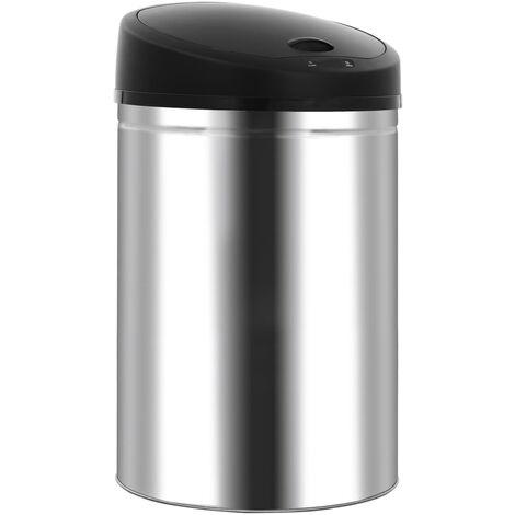 Automatic Sensor Dustbin Garbage Bin 42 L Stainless Steel - Silver