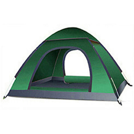 Automatic Tents 180x120x100cm Dark-green Double Layer Waterproof Camping Hiking Tent 2-3 People