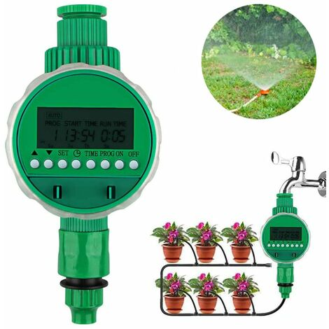 Automatic watering water timer, timer, timer, LCD display, digital Automatic time-saving irrigation with waterproof protective cover for garden greenhouse agriculture