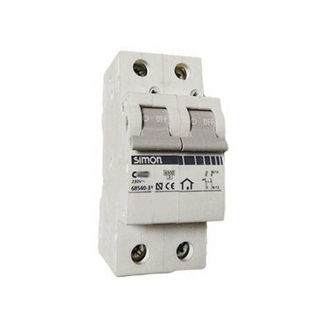 Automático Magnetotermico SIMON 68516-31 1P+N 16 Amps. Curva C