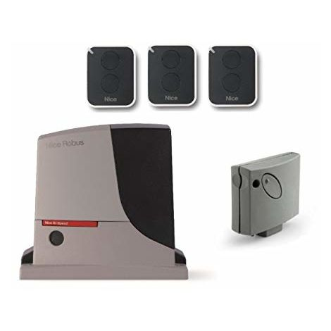 Automation Kit Nice Robus 500 Hs (Rb500Hs Smxi 3 X On2E) For The Rapid Actuation Of Sliding Gates Up To 8 M Or 500 Kg, 24 Vdc