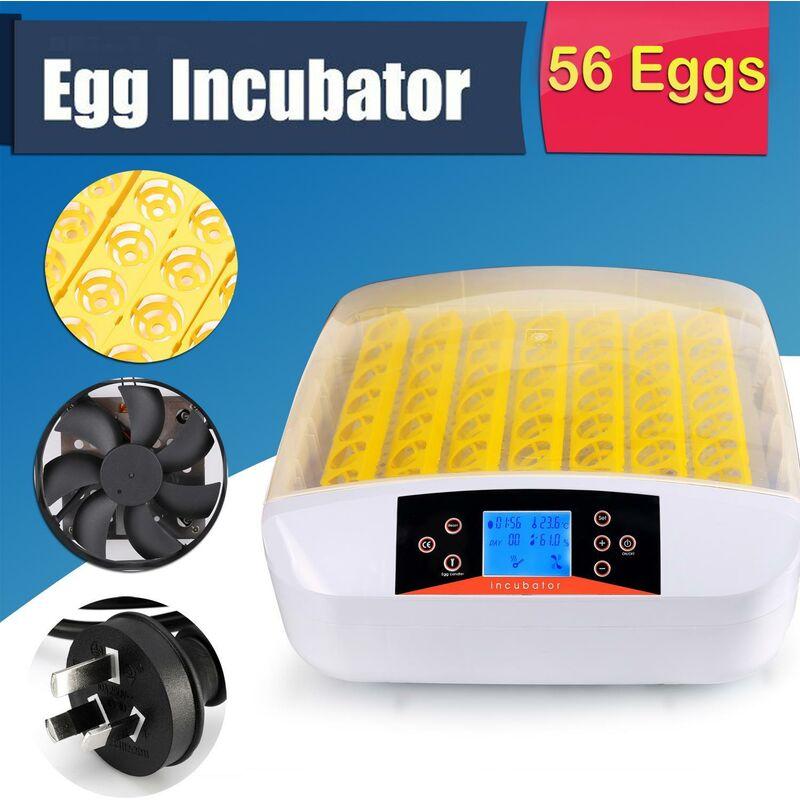 Better Maison - Automatique Intelligent 56 oeufs incubateur poulet canard oeufs Hatcher EU Prise LED - Jaune