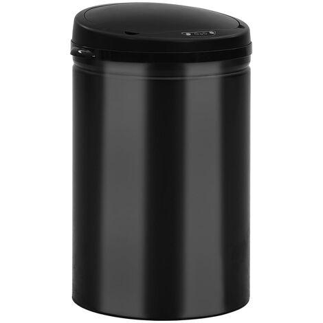 Automatischer Sensor-Mülleimer 30 L Kohlenstoffstahl Schwarz