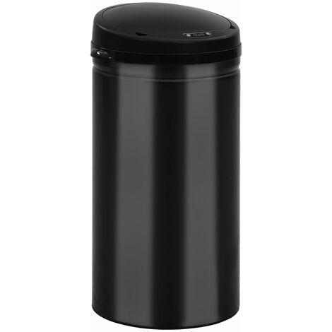 Automatischer Sensor-Mülleimer 50 L Kohlenstoffstahl Schwarz