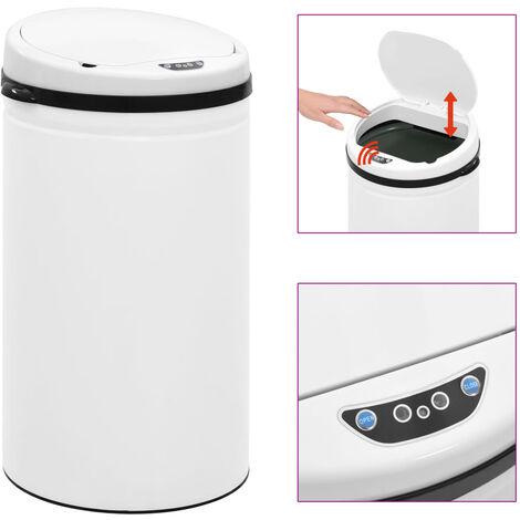 Automatischer Sensor-Mülleimer 50 L Kohlenstoffstahl Weiß