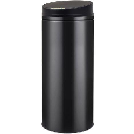 Automatischer Sensor-Mülleimer 62 L Schwarz