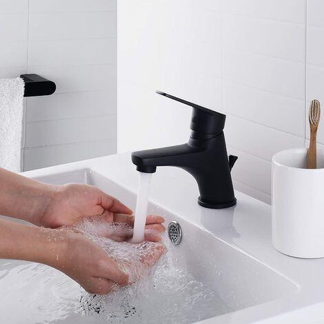 Auralum Wasserhahn Bad Automatischer Waschbecken-Mixer mit Infrarot-Toiletten Hahn-Elektronik