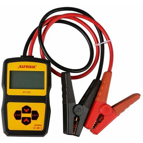 Autool BT-360 Comprobador de Batería para Automóviles Herramienta de Diagnóstico del Sistema de Batería de coche, moto, camion