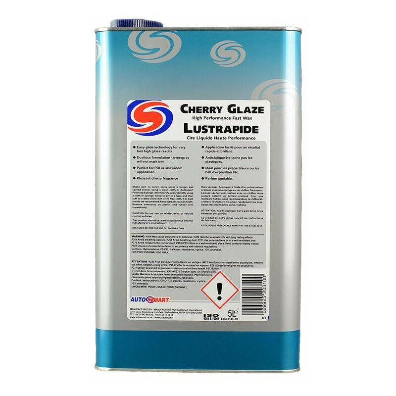 Image of Cherry Glaze High Performance Fast Wax - 5 Litres - Autosmart