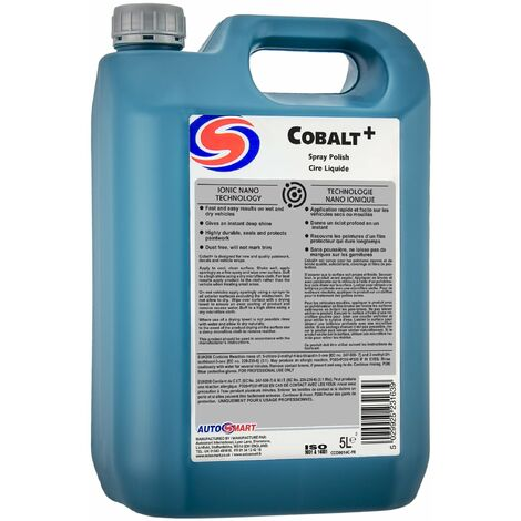 Autosmart Cobalt Polish 5L High Gloss Drying Aid Nano Sealant Car Auto Valet