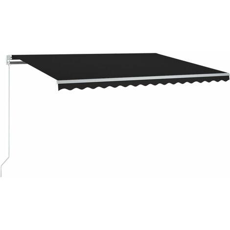 Auvent automatique capteur de vent et LED 300x250 cm Anthracite
