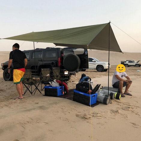 Auvent, auvent de camping toile de tente imperméable grande taille abri d'alpinisme pliable portable, adapté à la randonnée et au pique-nique