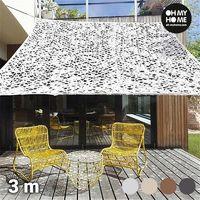 Auvent Carré Camouflage Ambiance Oh My Home (3 mètres)-Couleur-Marron