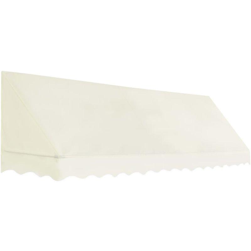 Auvent de bistro 350x120 cm Crème