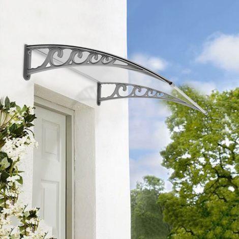 Auvent de Porte 80 x 120 cm transparent - Porte d'entrée, Marquise, Protection de l'ombre