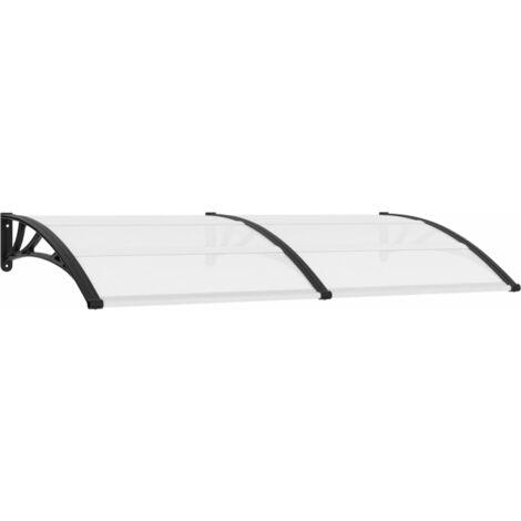 Auvent de porte Blanc 200 x 100 cm Plastique