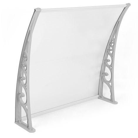 Auvent de porte marquise solaire abri banne marquise d'accueil(100x100cm)